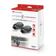 Bluetooth handsfree CellularLine Interphone SPORT Twin Pack