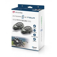 Bluetooth handsfree CellularLine Interphone TOUR Twin Pack