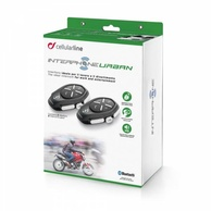 Bluetooth handsfree CellularLine Interphone URBAN Twin Pack